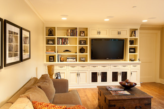 Traditional Home Theater by Paul Moon Design