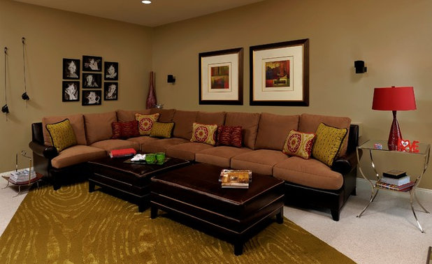 Traditional Family Room by Paula Grace Designs, Inc.