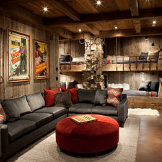 rustic family room by Peace Design