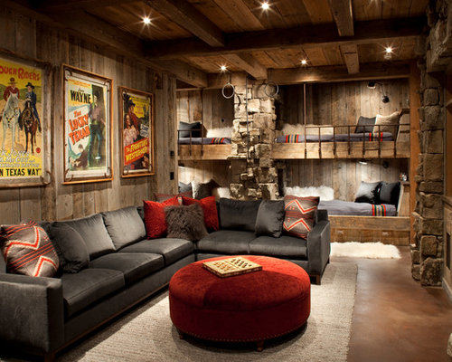 Uriges Wohnzimmer : Man Cave Living Room Design
