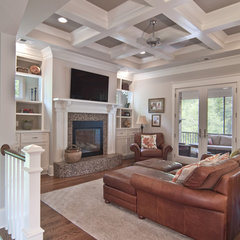 traditional family room by Plattner Custom Builders, LLC