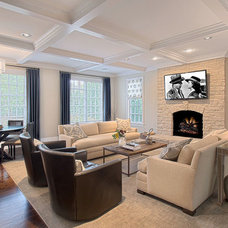 Transitional Family Room by polays home decor