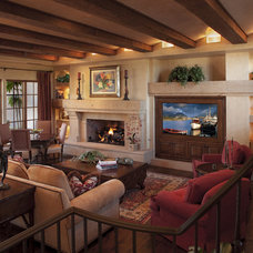 Traditional Family Room by R.J. Gurley Construction
