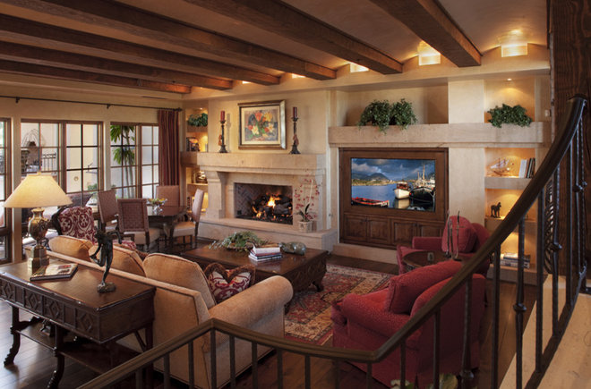 Traditional Family Room by R.J. Gurley Custom Homes