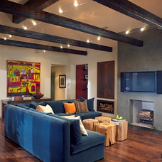 Contemporary Family Room by RA Design Group, LLC