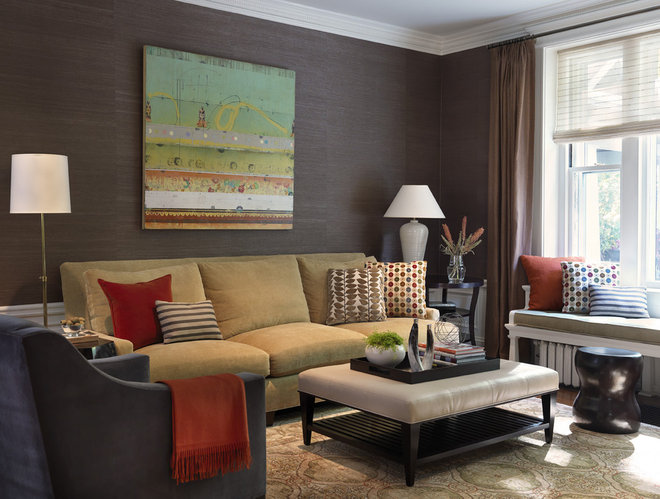 Traditional Family Room by Rachel Reider Interiors