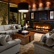Contemporary Family Room by Raftery construction