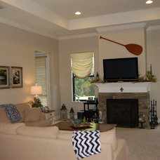 Beach Style Family Room by Inspiring Homes