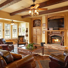 traditional family room by USI Design & Remodeling