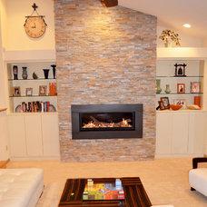 Contemporary Family Room by Kustom Home Design