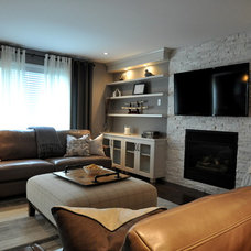 Contemporary Family Room by soulstyle Interior Decorating & Home Staging