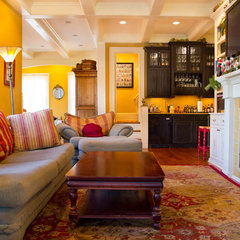 traditional family room by Rikki Snyder