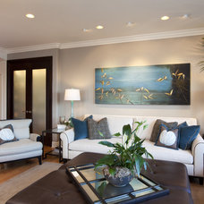 Modern Family Room by Robeson Design
