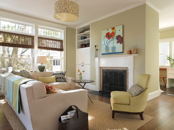 Contemporary Family Room by S+H Construction