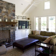 Traditional Family Room by Sarah Dreyer Design
