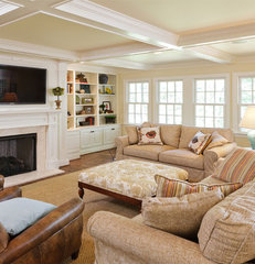 traditional family room by Michael Cadden . Promaster Design+Build