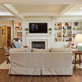 Family room - traditional family room idea in Louisville