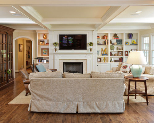 Off center fireplace home design ideas pictures remodel and decor for Pictures of how to decorate a living room