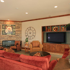Mediterranean Family Room by Smart Interiors