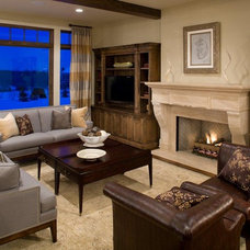 Craftsman Family Room by Stonewood, LLC