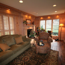 Traditional Family Room by Tangerine Designs Kitchens and Baths