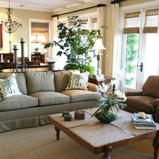 Tropical Family Room by The Brenner Collection