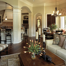Traditional Family Room by The Evans Group