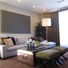 Contemporary Family Room by twenty7 design