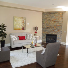 contemporary family room by Unique Space Lift Staging & Redesign