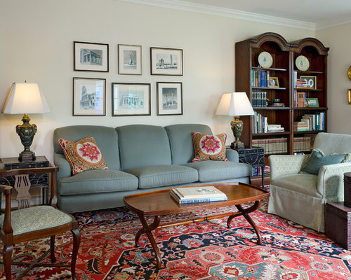 Traditional Family Room Idea In Richmond With Beige Walls