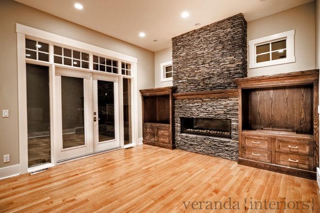 Contemporary Family Room by Veranda Estate Homes & Interiors