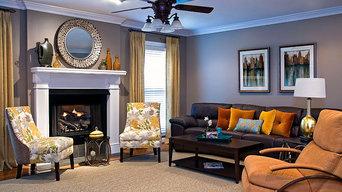 Family Room w/citrus colors