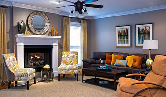 Family Room w/citrus colors