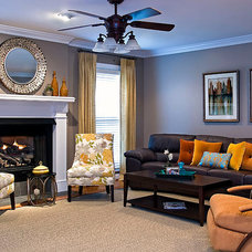 Eclectic Family Room by Decorating Den Interiors