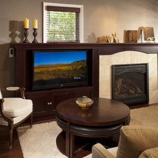 Traditional Family Room by CAGE Design Build