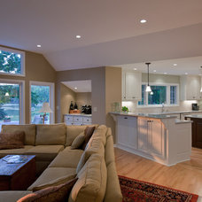 Contemporary Family Room by Wade Design & Construction Inc