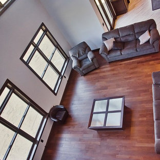 Family Room Windows and Hardwood Flooring