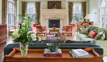 Family Room with a Touch of European Sophistication in Lake Forest