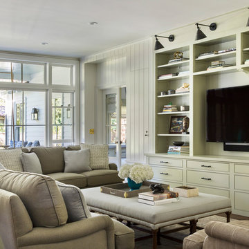 Family Room with Built-In Entertainment Center