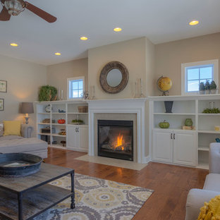 Family Room with Built in Gas Fireplace