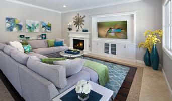 Family Room with Custom Wall Unit