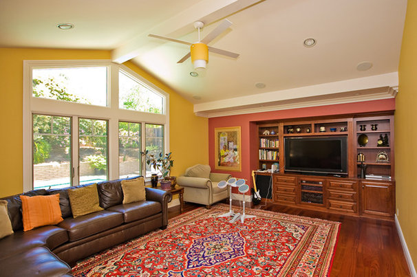 Eclectic Family Room by Bill Fry Construction - Wm. H. Fry Const. Co.