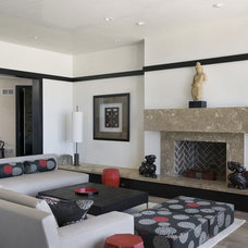 Contemporary Family Room by Orren Pickell Building Group