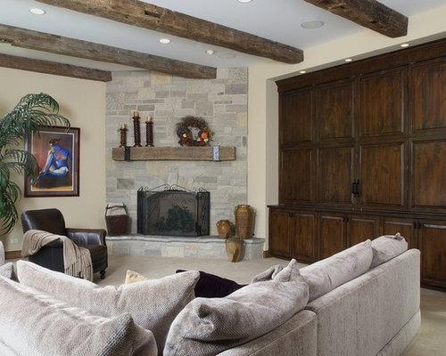 corner stone fireplace houzz. Black Bedroom Furniture Sets. Home Design Ideas
