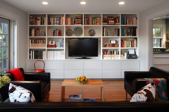 Contemporary Family Room by Ying Li Architect