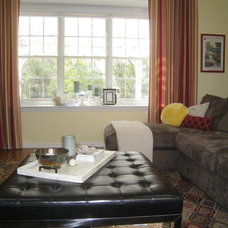 Transitional Family Room by Your Favorite Room By Cathy Zaeske