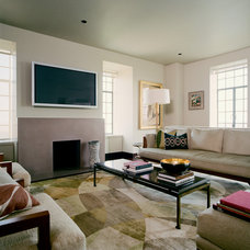 Contemporary Family Room by ZMK Group, Inc