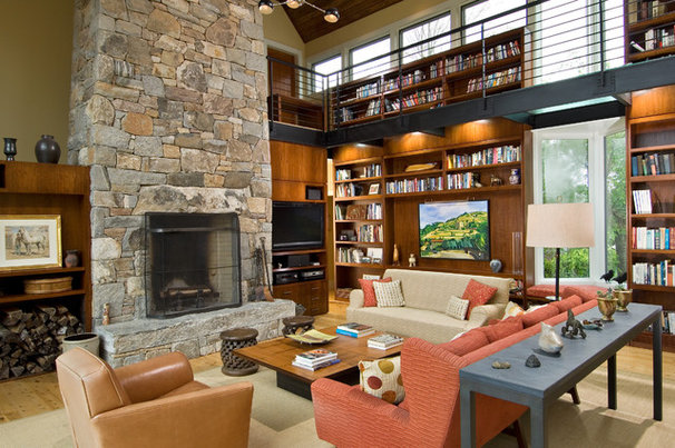 Contemporary Family Room by Troy Cabinetmakers