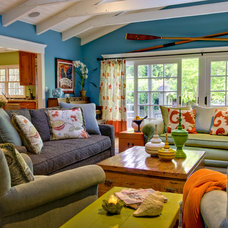 Eclectic Family Room by Viscusi Elson Interior Design - Gina Viscusi Elson