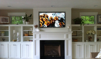 Family Rooms with Custom Built-in Cabinets
